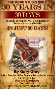 """THE HOME STUDIO BIBLE"" 30 Yrs in 30 Days - by Gary Gray"